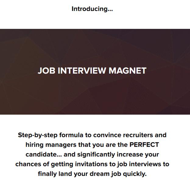 intro job interview magnet