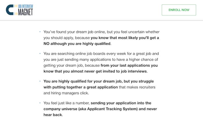 job interview magnet