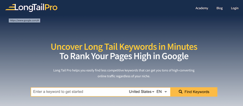 longtailpro long tail keyword research tool