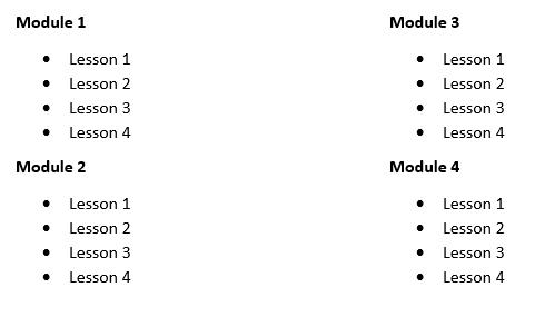 online course module structure