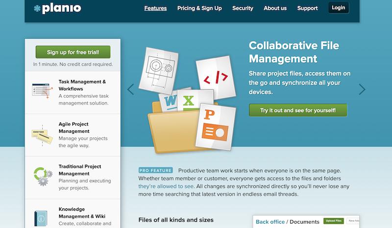 planio collaborative file management solution