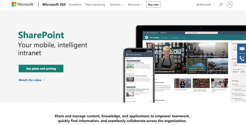 sharepoint document sharing platform