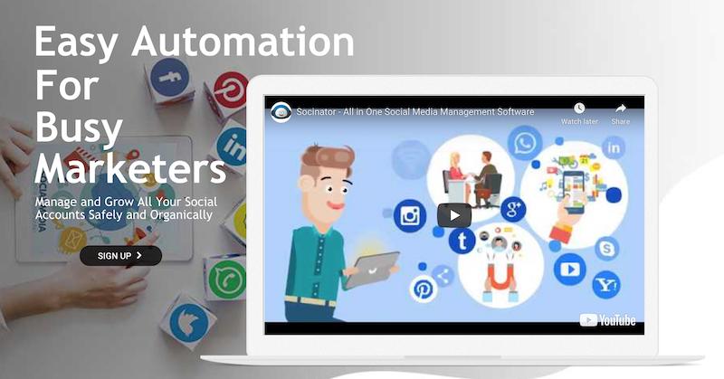 socinator social media growth tool