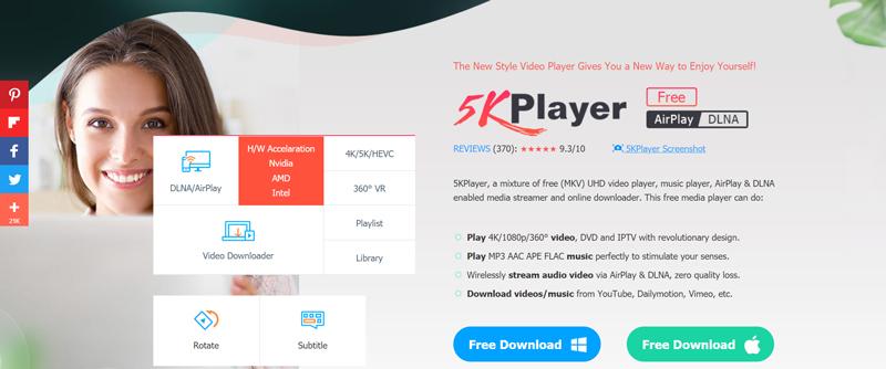 5K Player Most Versatile Online Video Downloader.