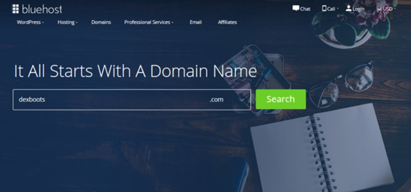 Bluehost domain search