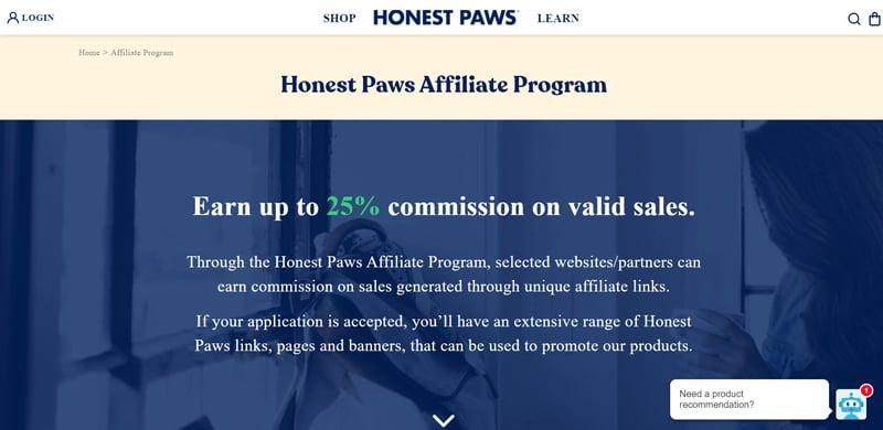 Honest Paws Affiliate Program