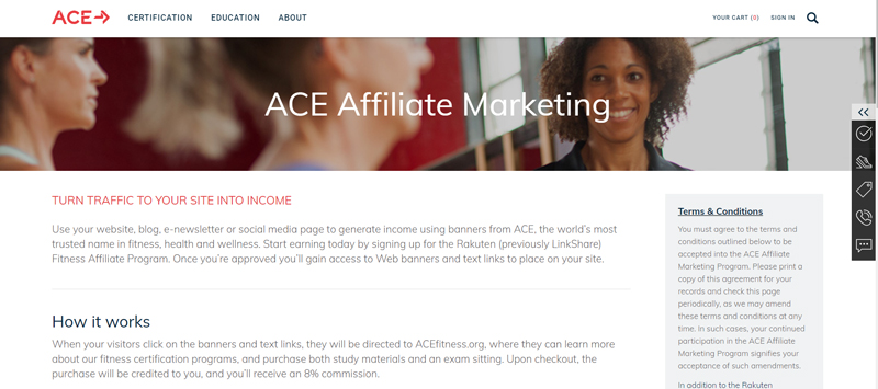 ACE Fitness Affiliate Programs
