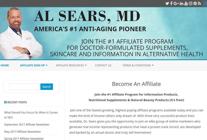 Al Sears,MD Affiliate Programs
