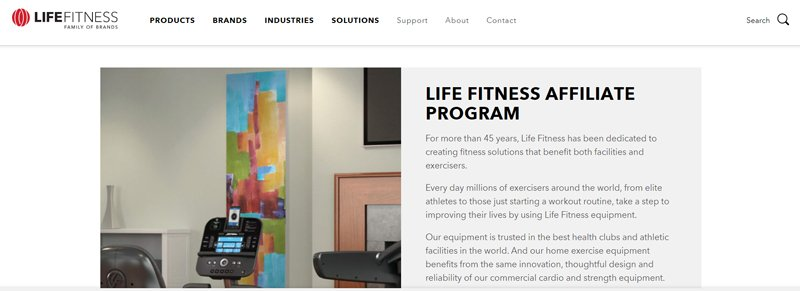 LIFE FITNESS Affiliate Programs