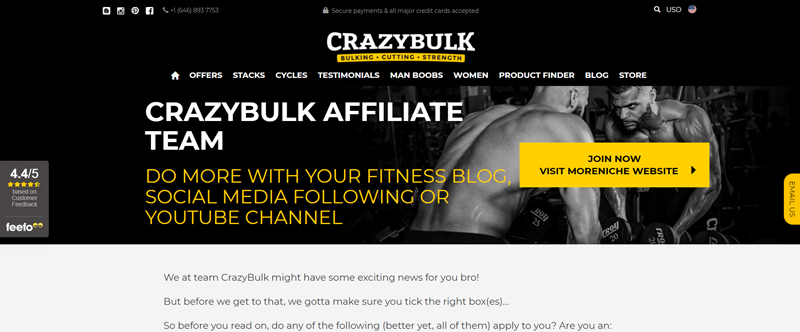 Crazybulk Affiliate Programs