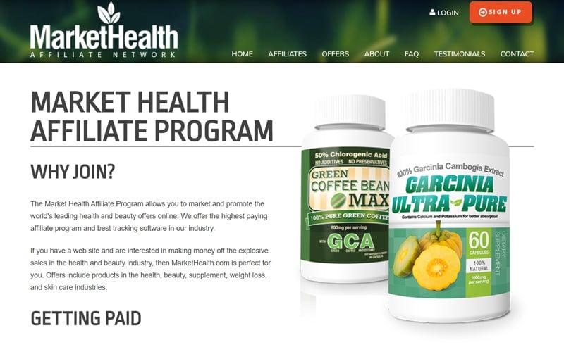 Market health Affiliate Programs