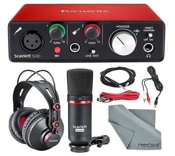 Focusrite Scarlett Solo Studio starter kit
