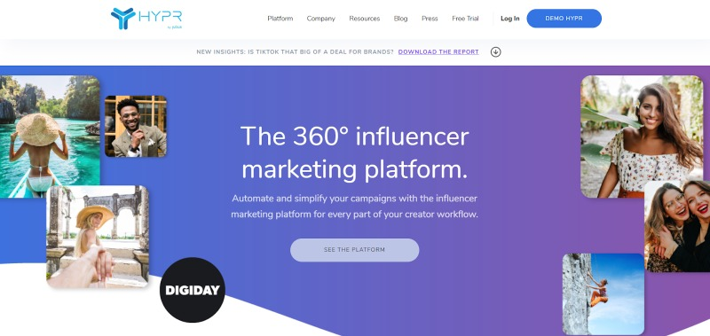 HYPR influencer marketing platform