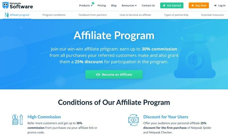 NetpeakSoftware - affiliate program