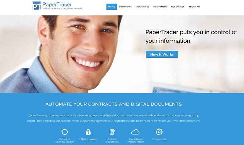 PaperTracer contract document management software