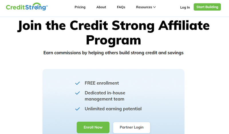 Credit strong Affiliate Programs