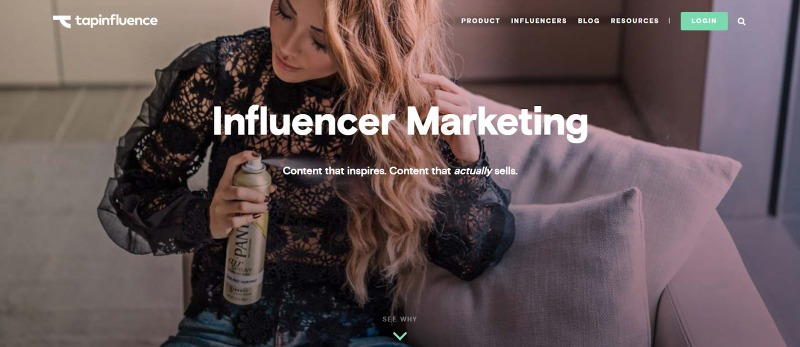 Tapinfluence influencer and creator search