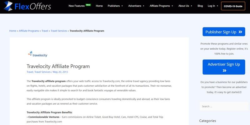 TRAVELOCITY Affiliate Programs