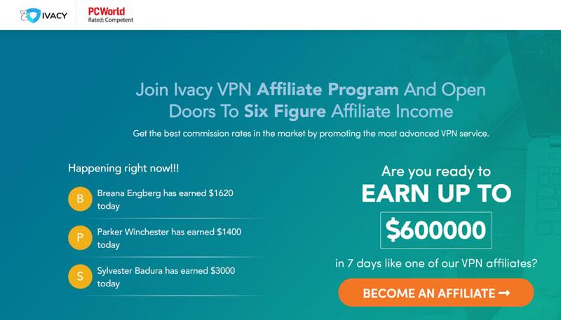 Ivacy affiliate program