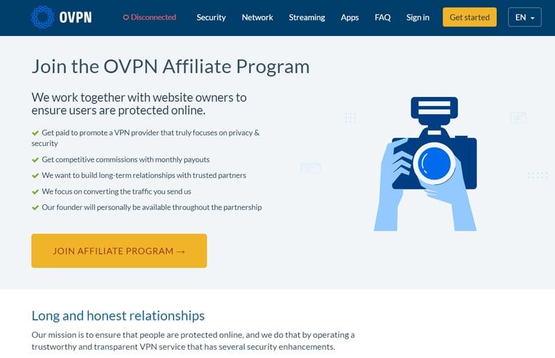 OVPN affiliate program