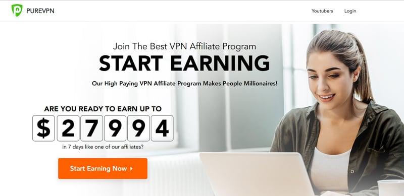PURE VPN affiliate program