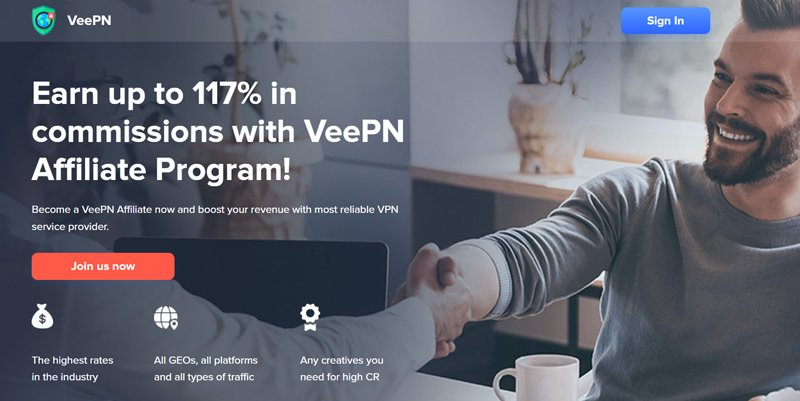 VeePN affiliate program