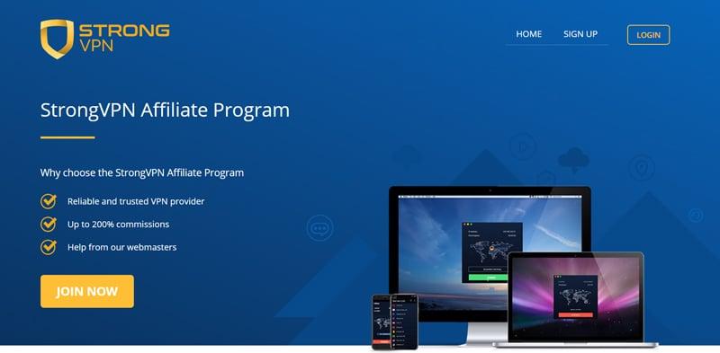 Strongvpn affiliate program