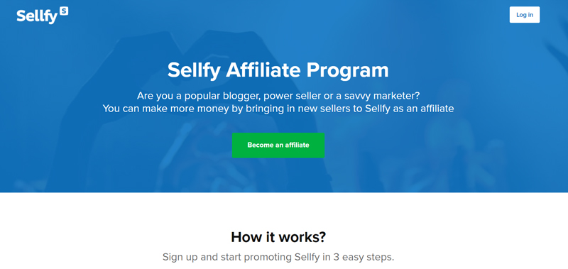 Sellfy affiliate program