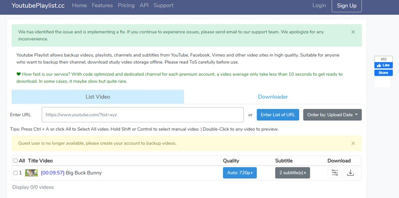 YoutubePlaylist.cc Most Secure YouTube Playlist Downloader
