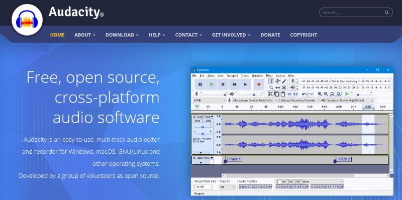 audacity audio software