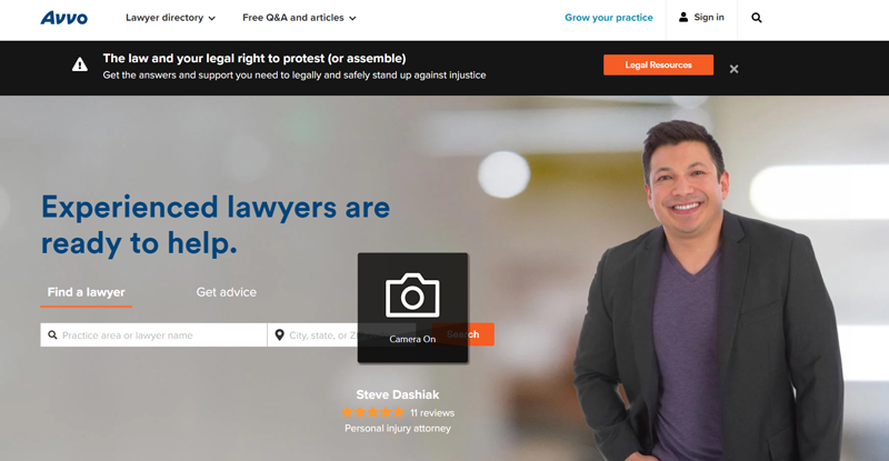 avvo online legal forum and directory