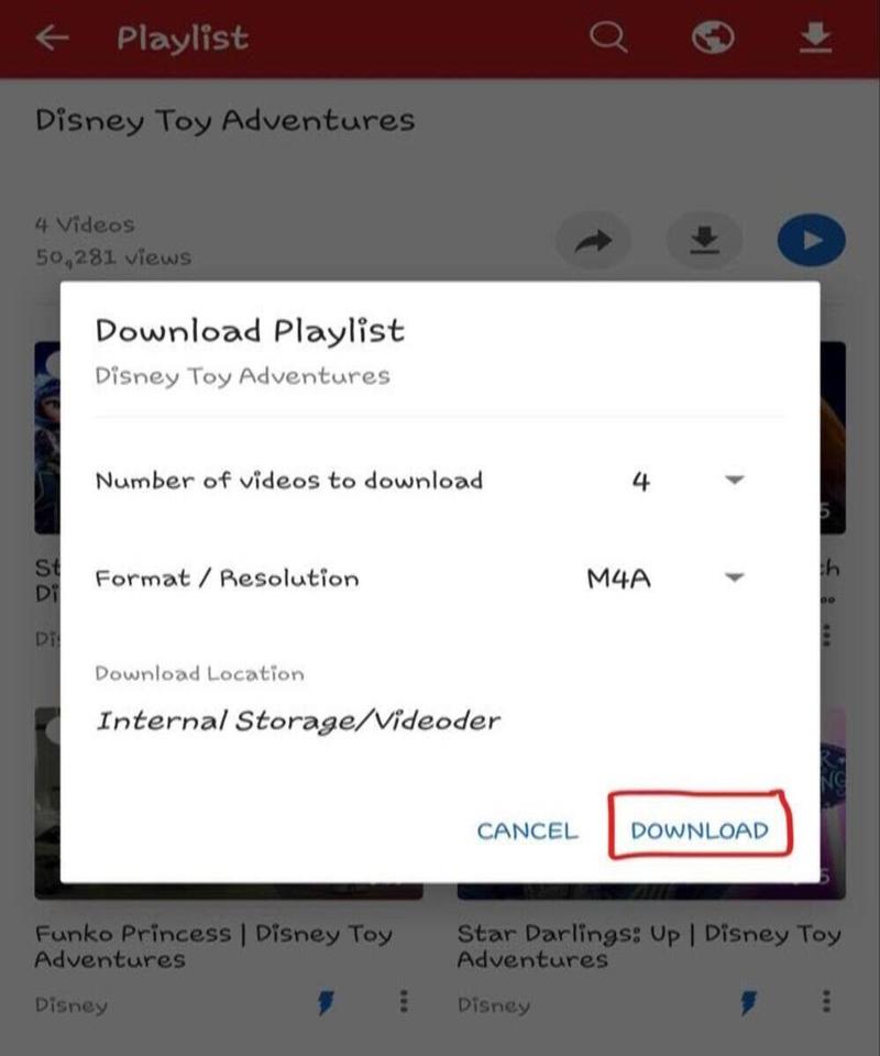 completing download in videoder app
