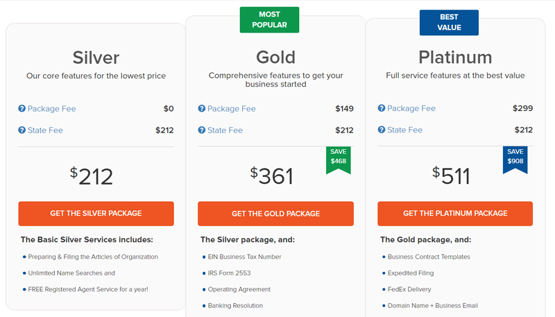 incfile pricing
