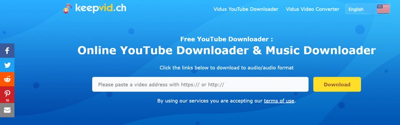 keepvid.ch All-round Online Video Downloader with an Easy to Use Interface