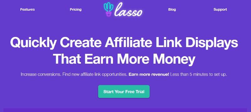 lasso create affiliate links to earn money