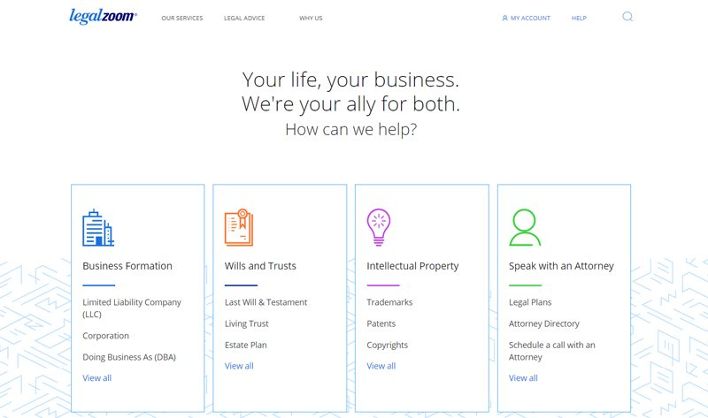 legalzoom online legal service for individuals and businesses