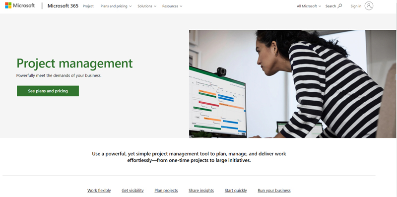 microsoft project management software
