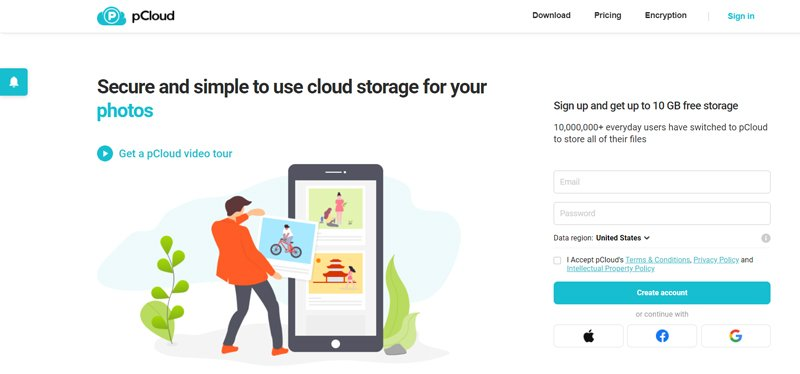 pCloud Best Overall YouTube Video Cloud Storage