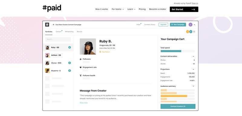 #paid influencer marketing platform