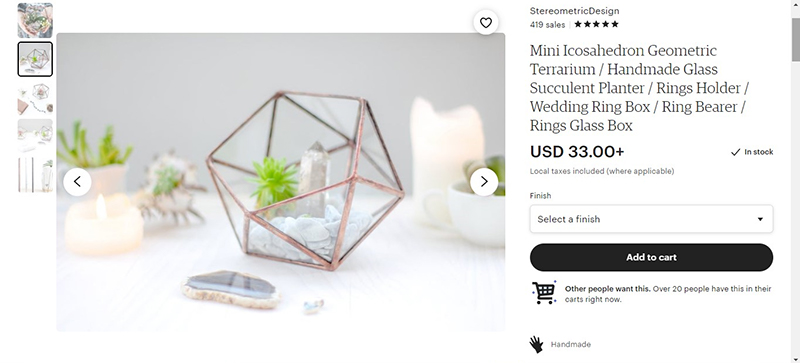 use product photography in your Etsy shop