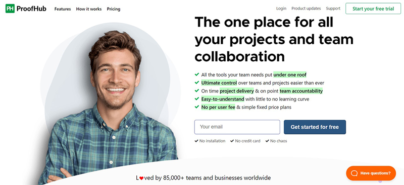 proofhub online project management software