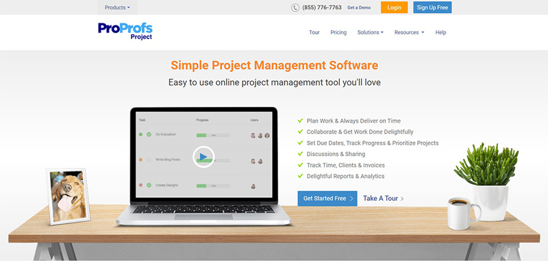 proprofs project management software