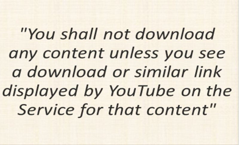 Youtube terms for downloading youtube videos