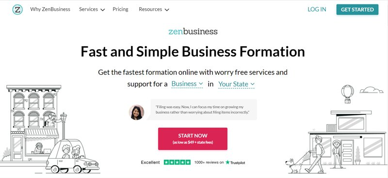 zenbusiness online legal service for small businesses