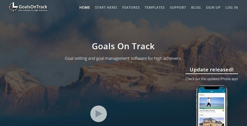 GoalsOnTrack bucket list online creator