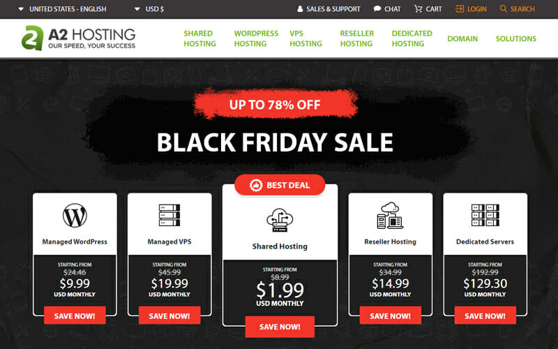 A2 Hosting Best Shared Hosting for Small Businesses That Need Fast loading Web Pages.
