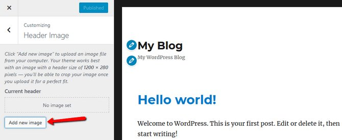 Add new image to your blog
