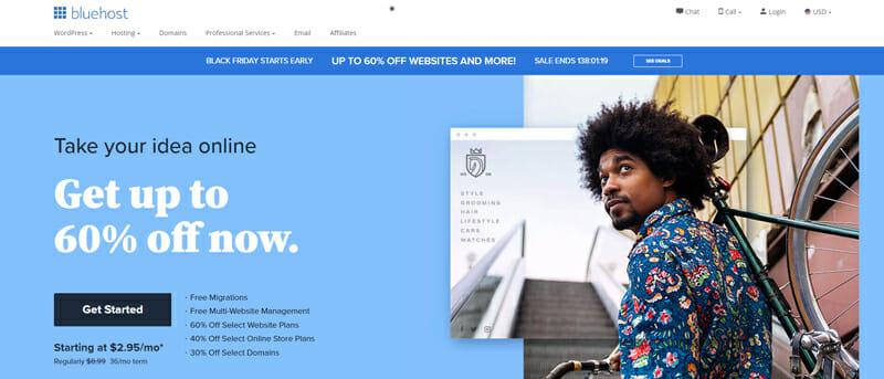 Bluehost Best shared web hosting