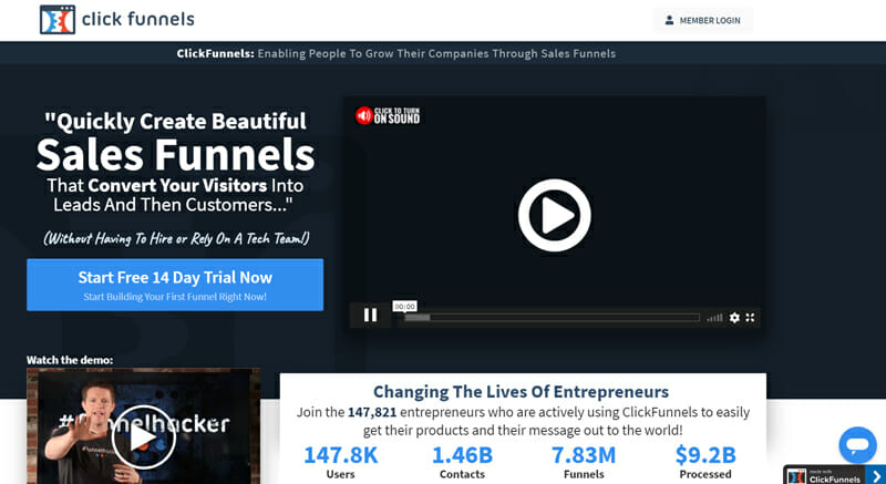 ClickFunnels. The Most Successful Sales Funnel Software on the Market.