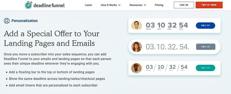 Deadline funnel offer a time sensitive discount to webinar attendees